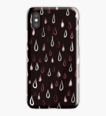 Dark White And Red Raindrops Pattern iPhone Case/Skin