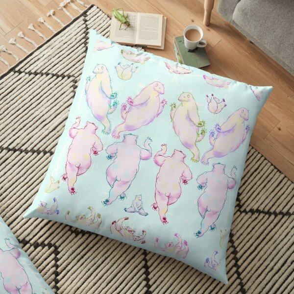 Polar Bear Line Dance Floor Pillow