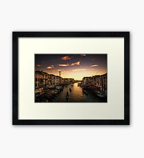 The marching gondolas Framed Print