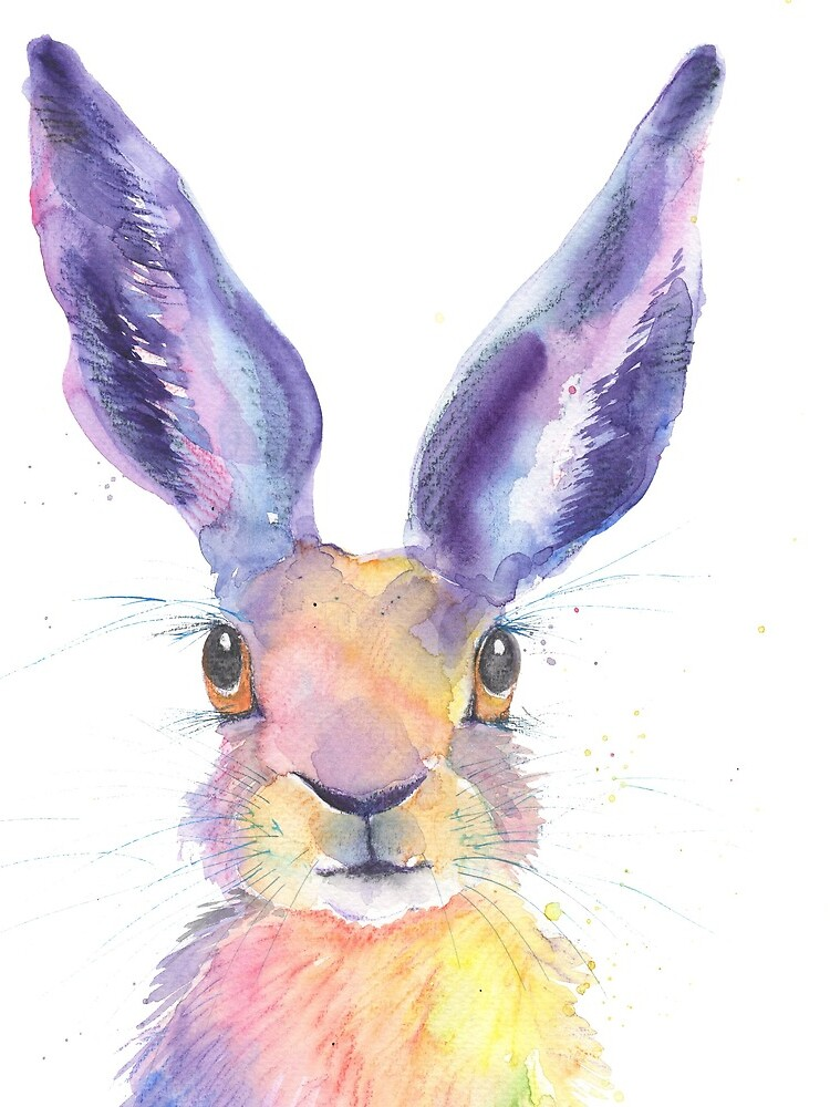 Rainbow Hare by LuciPower