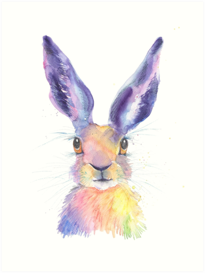 Rainbow Hare by Luci Power