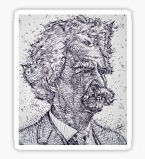 MARK TWAIN - ink portrait Sticker