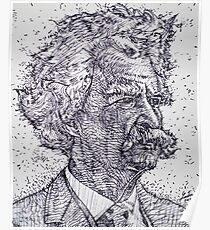 MARK TWAIN - ink portrait Poster