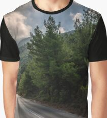 road in the mountain with clowdy sky Graphic T-Shirt