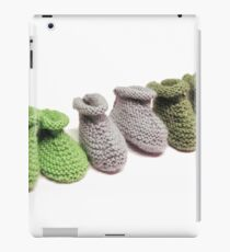 Chaussons tricotés verts iPad Case/Skin
