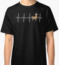 Llama EKG Heartbeat Pulse  Classic T-Shirt