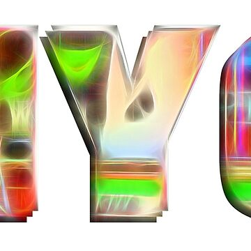 NYC (glow typography) by RayW
