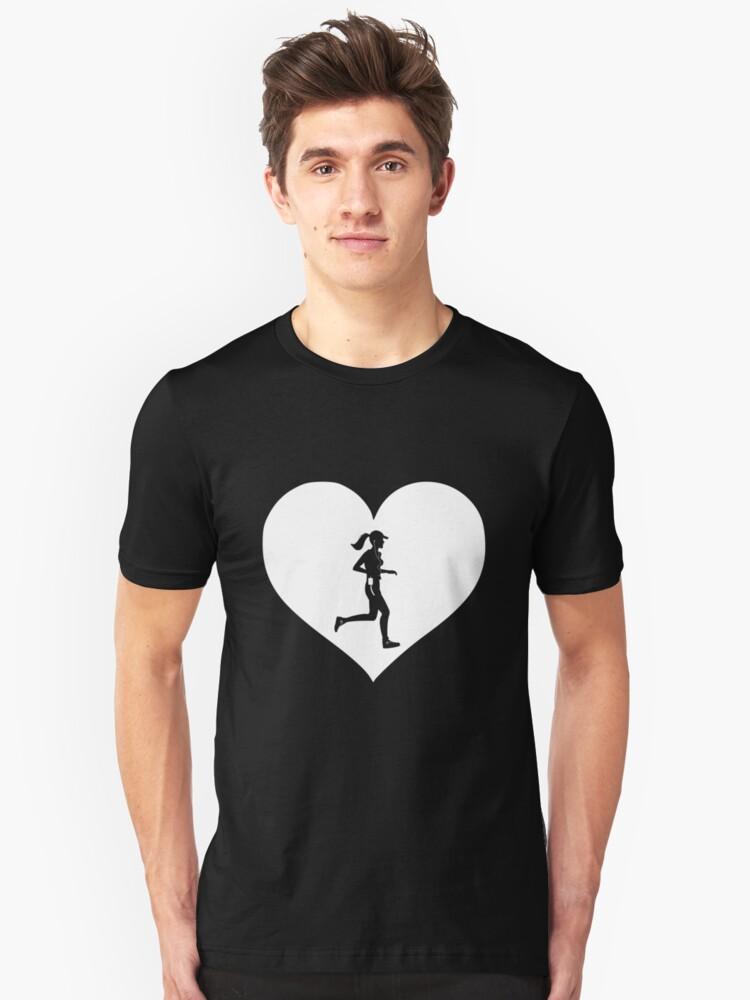 Womens Running Lover T Shirt Birthday Christmas Love Heart Gift Idea For Female Runners USA UK AU CA By Vibrantplanet