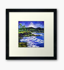 Blue Moon Over Laguna Beach Framed Print