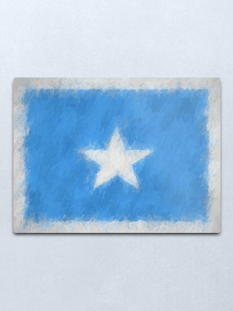 Alternate view of Somalia Flag Reworked No. 66, Series 4 Metal Print