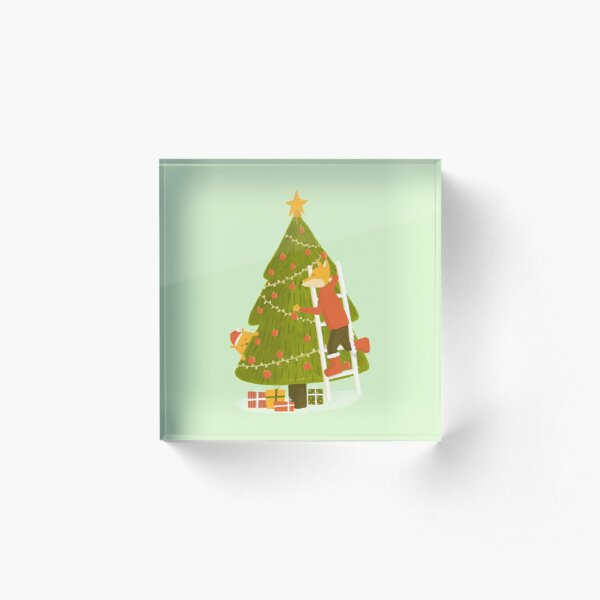 Merry Christmas Mr. Fox Acrylic Block