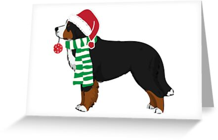Bernese Mountain Dog Holiday Christmas Dog Greeting Cards By