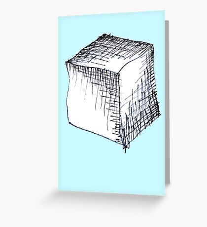 Freehand cube sketch  Greeting Card