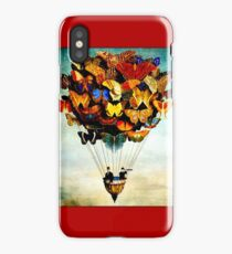 BUTTERFLY BALLOON : Vintage Abstract Painting Print iPhone Case