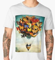 BUTTERFLY BALLOON : Vintage Abstract Painting Print Men's Premium T-Shirt