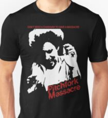 Pitchfork Massacre (Dark Backgrounds) T-Shirt