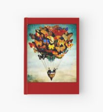BUTTERFLY BALLOON : Vintage Abstract Painting Print Hardcover Journal