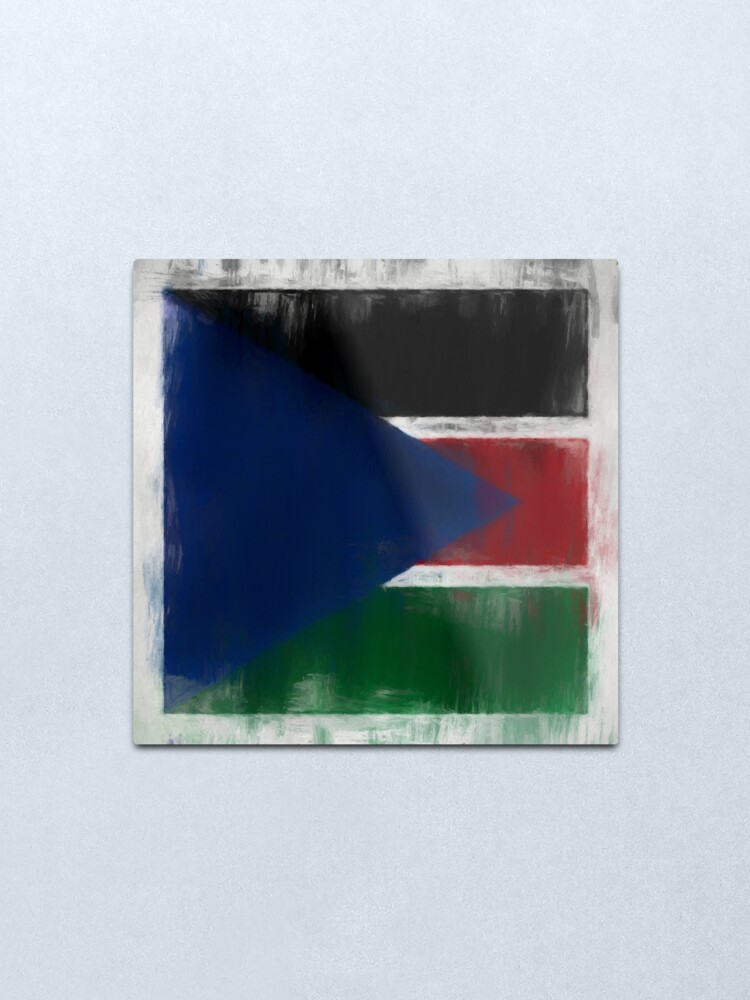 Alternate view of South Sudan Flag Reworked No. 2, Series 2 Metal Print