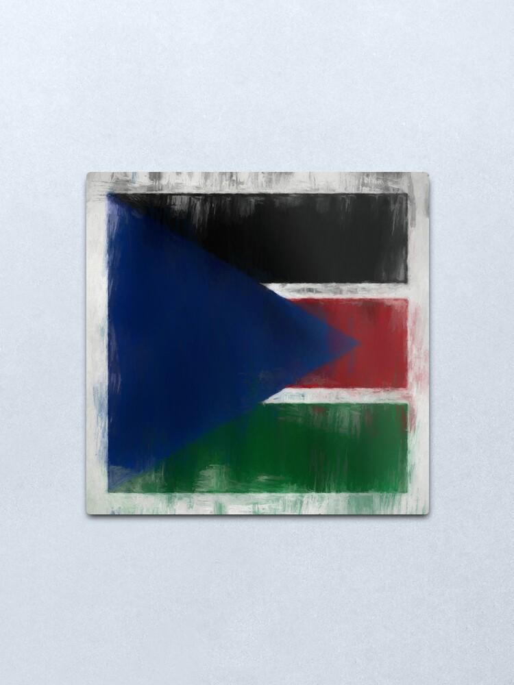 Alternate view of South Sudan Flag Reworked No. 2, Series 2 Metal Print