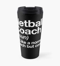 Netball-Trainer-lustiger Definitions-Trainer-Geschenk-Entwurf Thermobecher