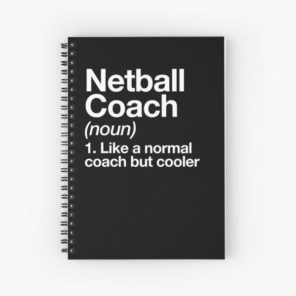 Netball Coach Funny Definition Trainer Diseño de regalo Cuaderno de espiral
