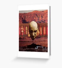 M Blackwell - Angry God of Desert Smallgoods... Greeting Card