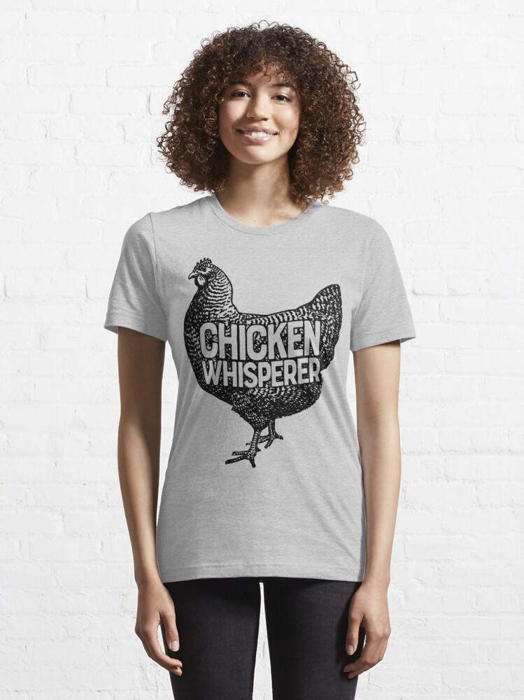 Alternate view of Chicken Whisperer Shirt Funny Farming Farm Poultry Gifts T-shirt for Farmers or Chicken Lovers Essential T-Shirt