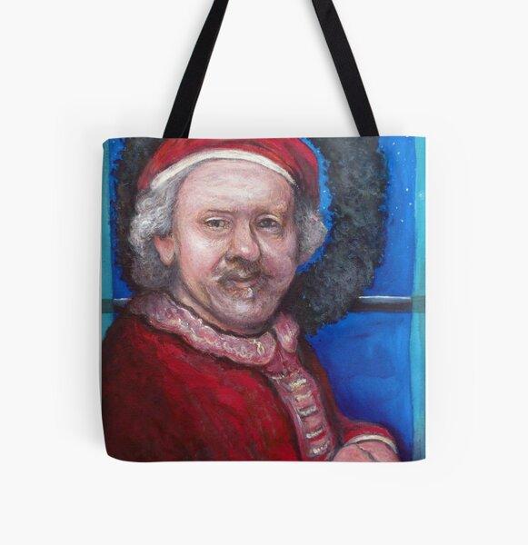Rembrandt Santa All Over Print Tote Bag