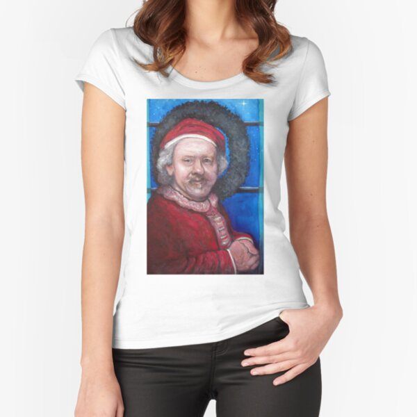 Rembrandt Santa Fitted Scoop T-Shirt