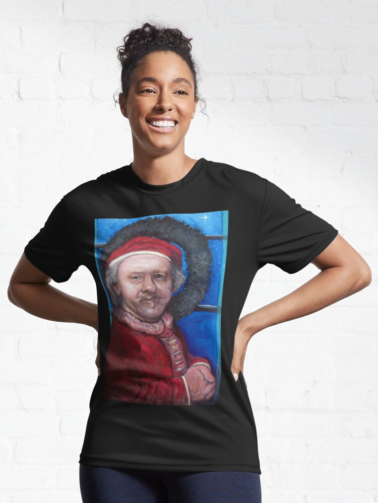 Alternate view of Rembrandt Santa Active T-Shirt