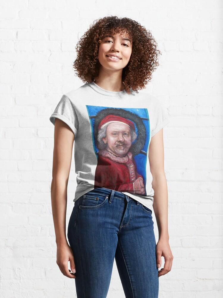 Alternate view of Rembrandt Santa Classic T-Shirt