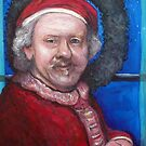 Rembrandt Santa by Tom Roderick