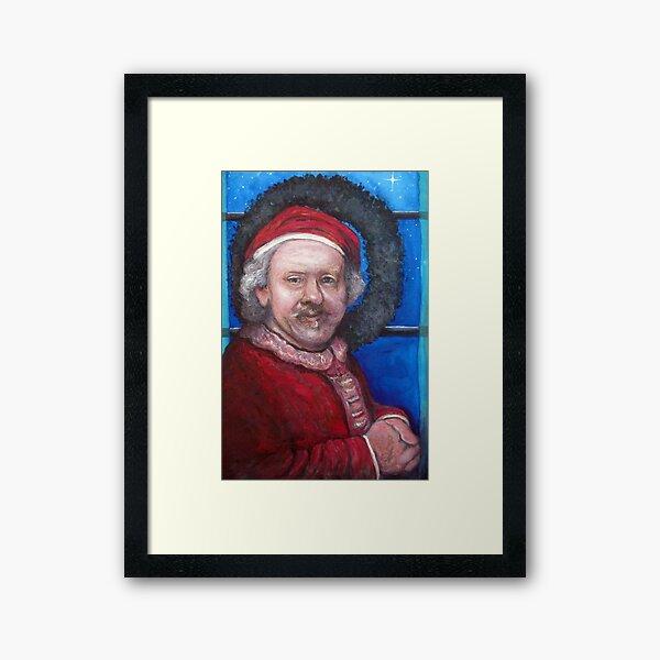 Rembrandt Santa Framed Art Print