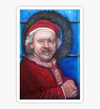 Rembrandt Santa Sticker