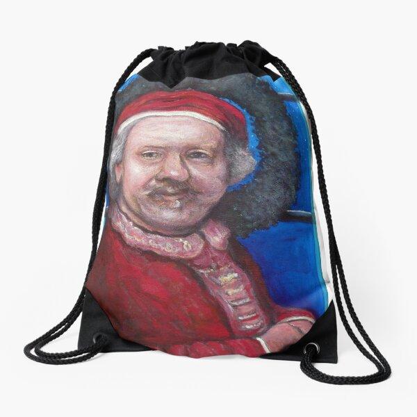Rembrandt Santa Drawstring Bag