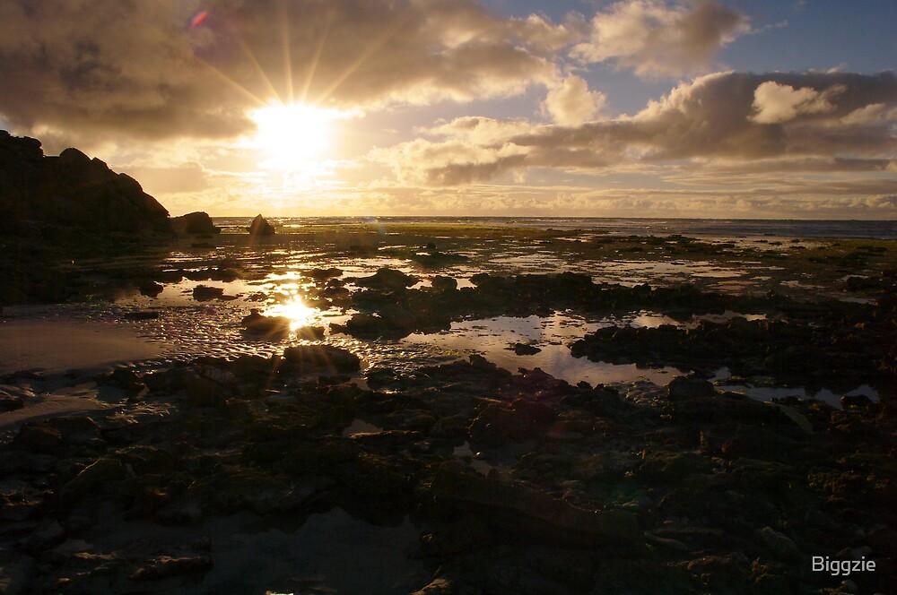 Cape Douglas Sunset by Biggzie