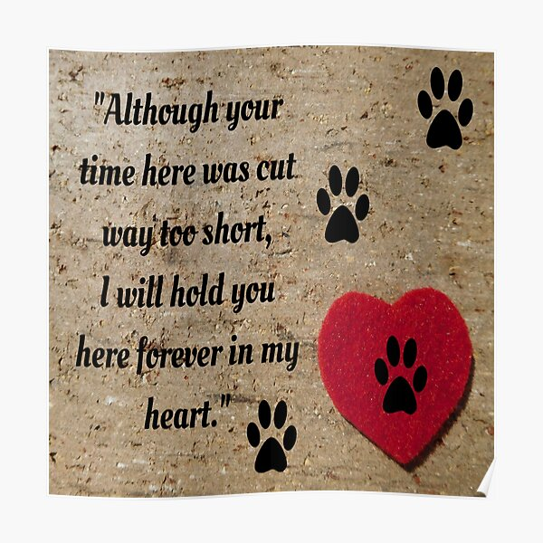 I will hold you forever in my heart Poster
