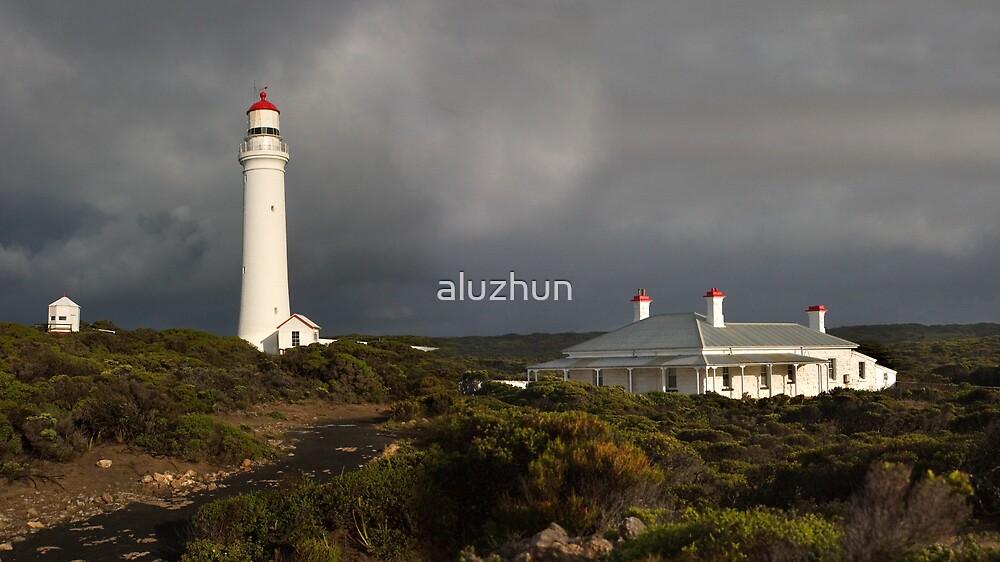 Stormy Day Lighthouse by aluzhun