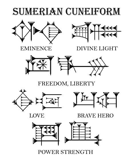 Quot Sumerian Cuneiform Script Quot Poster By Natalia Art Redbubble