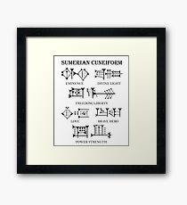 Sumerian Cuneiform Script Framed Print