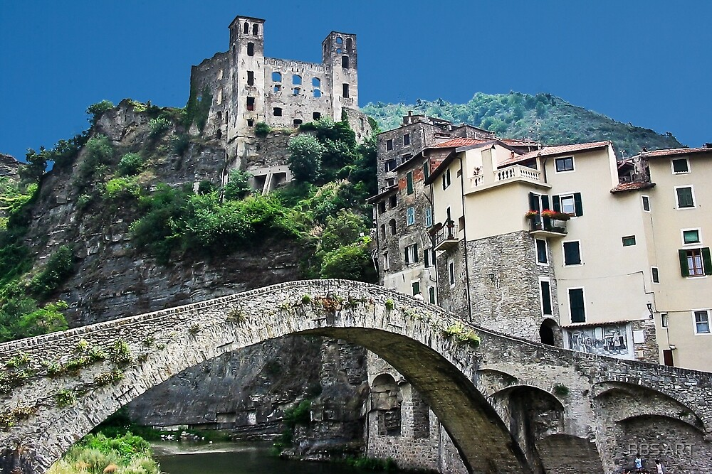 Dolceacqua village and castle by bruno benedetti