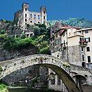 Dolceacqua village and castle by bruno benedetti