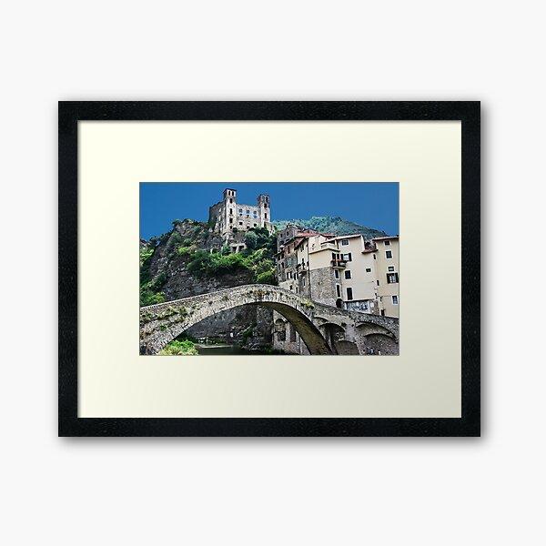 Dolceacqua village and castle Framed Art Print