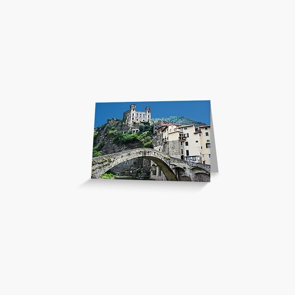 Dolceacqua village and castle Greeting Card