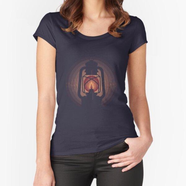 lampara de aceite Camiseta entallada de cuello ancho