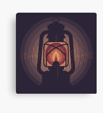 oil lamp Canvas Print