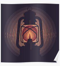 oil lamp Poster