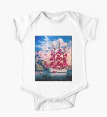 FLOWER SAIL BOAT : Vintage Abstract Fantasy Painting Print One Piece - Short Sleeve