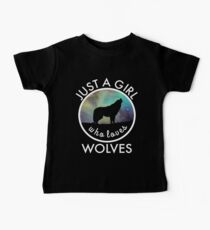 Super Cute Just A Girl Who Loves Wolves Wolf Kids Clothes