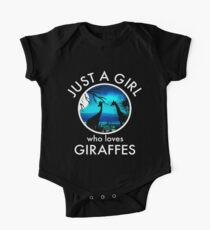 Just A Girl Who Loves Giraffes Graphic  Kids Clothes